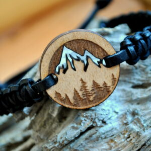 Bracelet Wooden – Mountains