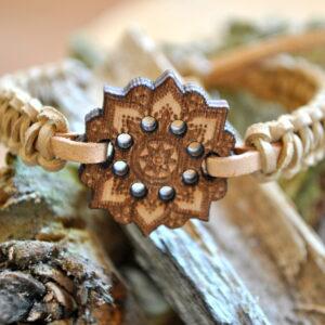 Bracelet Wooden – Mandala